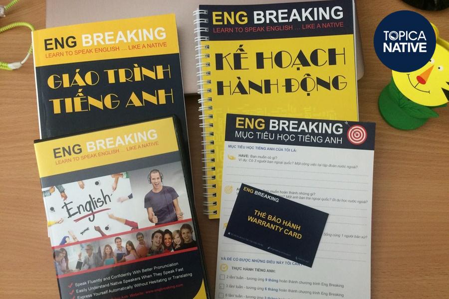 Eng Breaking là khóa học tiếng Anh online dạng cung cấp video quay sẵn và tài liệu tự học