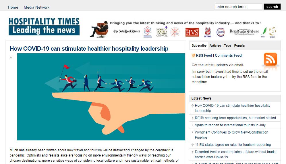 HospitalityTimes cũng là một website tiếng Anh sở hữu nhiều thông tin và nội dung hữu ích liên quan đến ngành dịch vụ