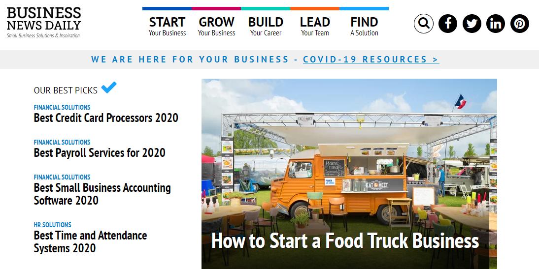 Business News Daily là website học tiếng Anh chuyên ngành Tài chính ngân hàng hiệu quả