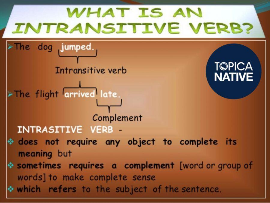 Nội động từ trong tiếng Anh