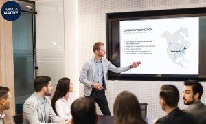 Một mẹo với tiếng Anh cho người đi làm để giới thiệu nơi làm việc đó là hãy giới thiệu thành tựu của công ty bạn