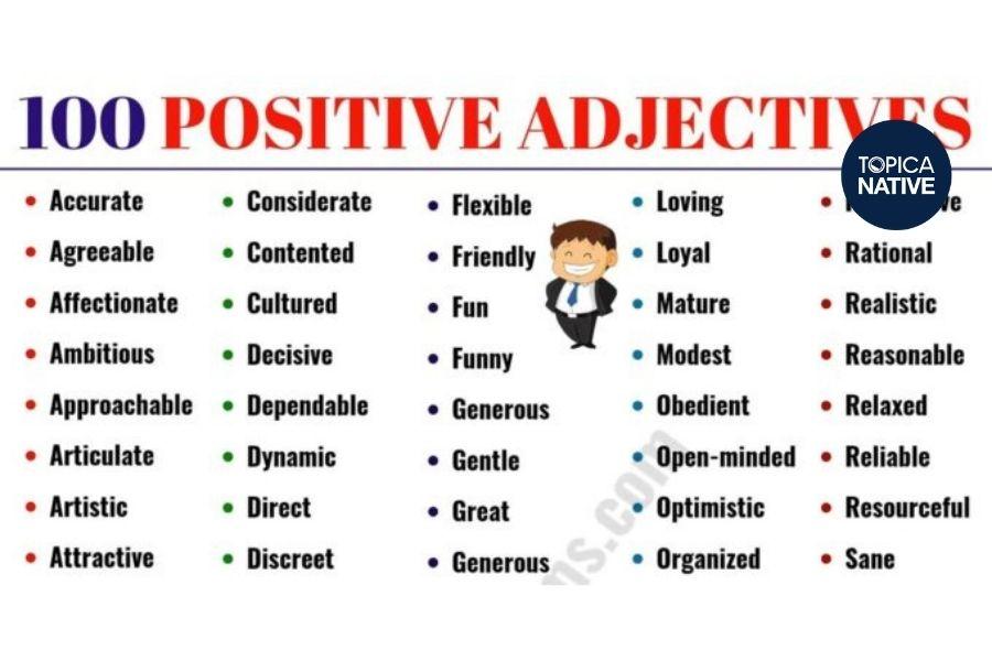 Một số tính từ trong tiếng Anh