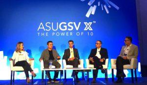Từ trái sang, CEO và Founder của Gnowbe, bà So-Young Kang; CEO và Founder của Topica, ông Phạm Minh Tuấn; Founder của Kaizen PE, ông Sandeep Aneja; Founder của XSEED Education, ông Ashish Rajpal; Managing Director của EdTech Asia, ông Mike Michalec.