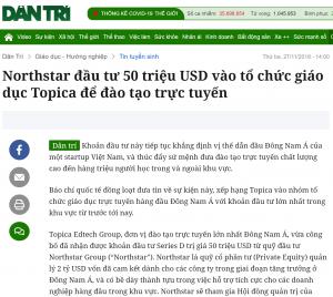 Topica nhận đầu tư kỉ lục
