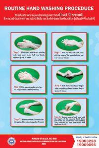Hướng dẫn rửa tay đúng cách.