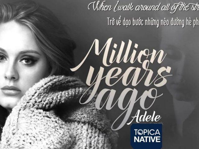 Học Tiếng Anh qua bài hát Million Years Ago